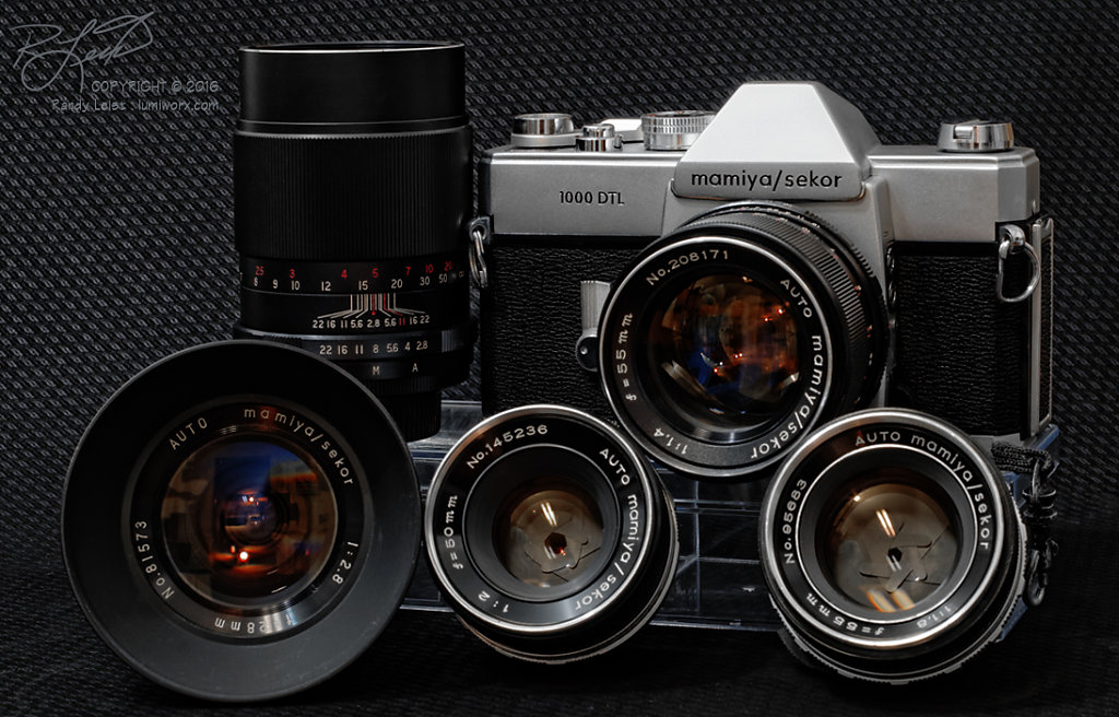 Mamiya 1000 DTL and Lenses