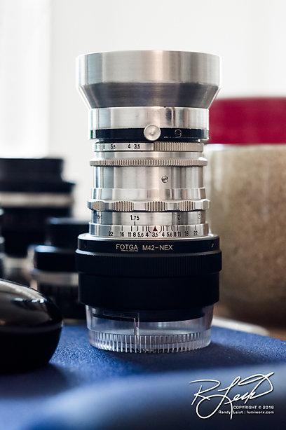 Adapted  50mm f/3.5 Tessar