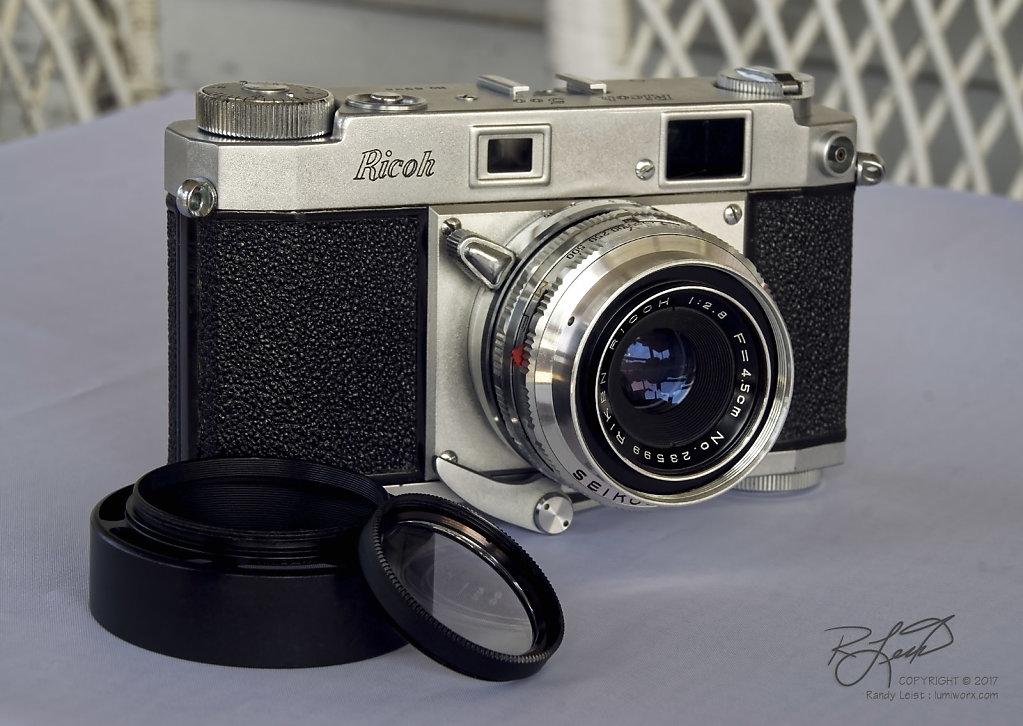 Ricoh 500 Rangefinder w/Riken (Tomioka) 45mm f/2.8