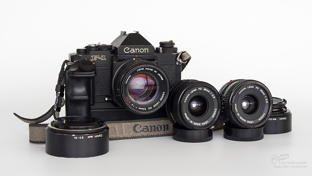 Photojournalist's Toolkit - Canon New F1, w/ F Finder and AE Winder