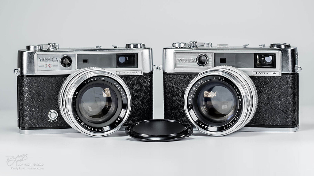 A set of Yashica Lynx 14 Rangefinders